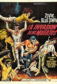 Blue Demon y Zovek en La invasión de los muertos (1973)