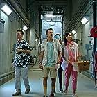 Michael Naughton, Jacob Bertrand, and Suzi Barrett in Kirby Buckets (2014)
