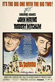 Robert Mitchum, John Wayne, and James Caan in El Dorado (1966)