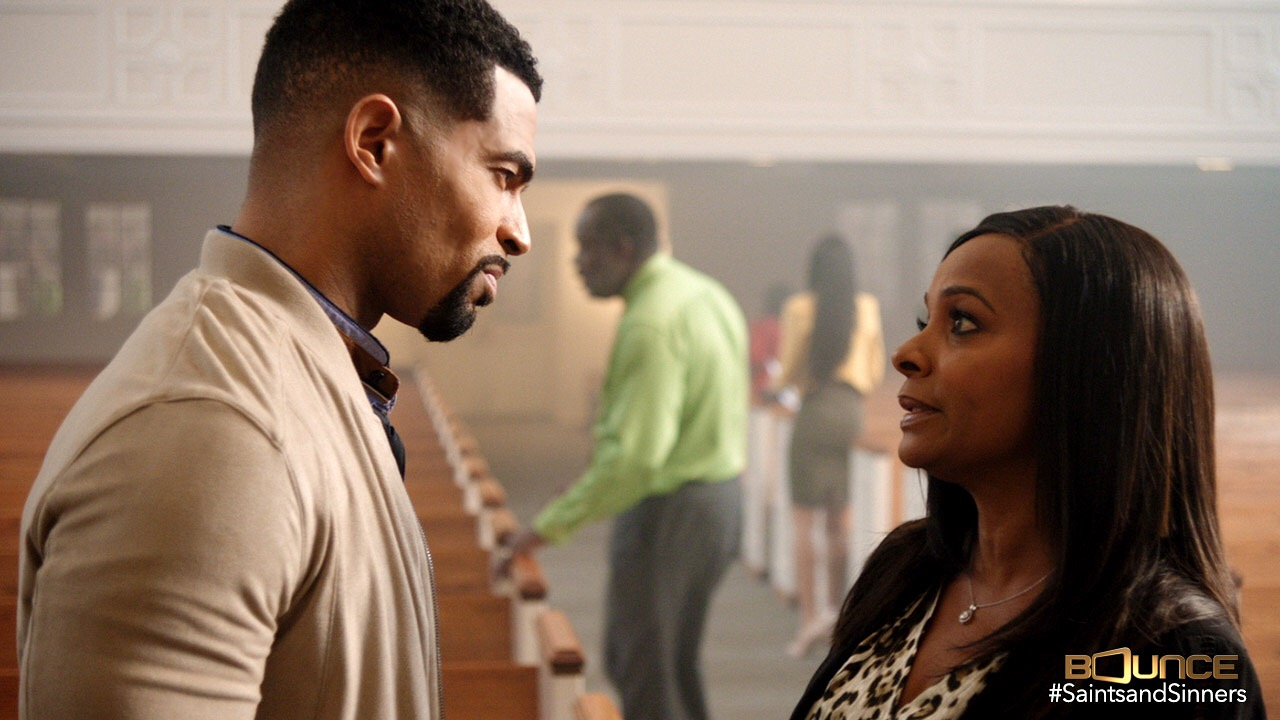 """Anthony O. Dalton II and Vanessa Bell Calloway in """"Saints & Sinners"""""""