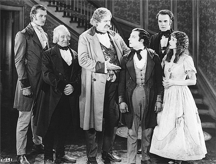 Buster Keaton, Francis X. Bushman Jr., Monte Collins, Joe Roberts, Natalie Talmadge, and Craig Ward in Our Hospitality (1923)