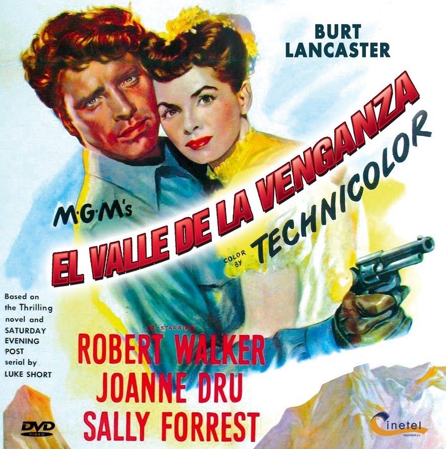 Vengeance Valley Burt Lancaster Joanne Dru movie poster 2