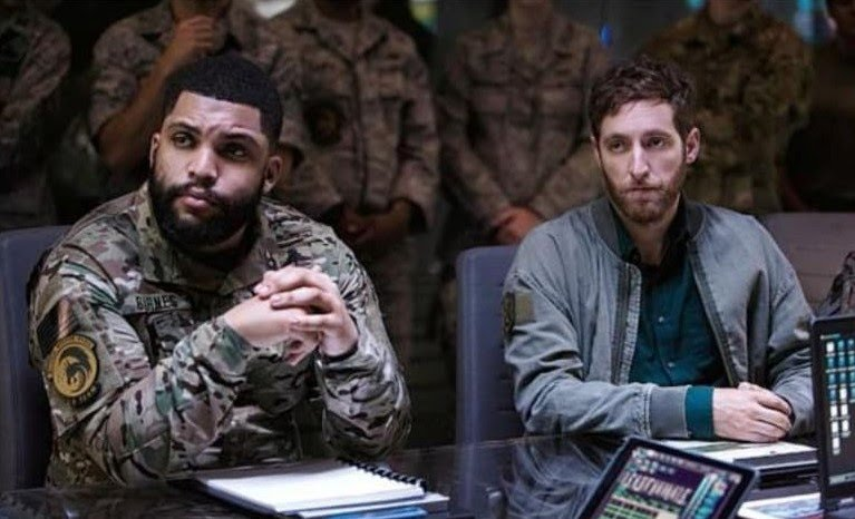 Thomas Middleditch and O'Shea Jackson Jr. in Godzilla: King of the Monsters (2019)