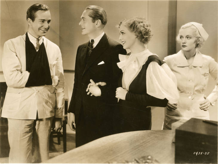 Gloria Stuart, James Dunn, Shirley Grey, and David Manners in The Girl in 419 (1933)