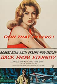Anita Ekberg and Robert Ryan in Back from Eternity (1956)
