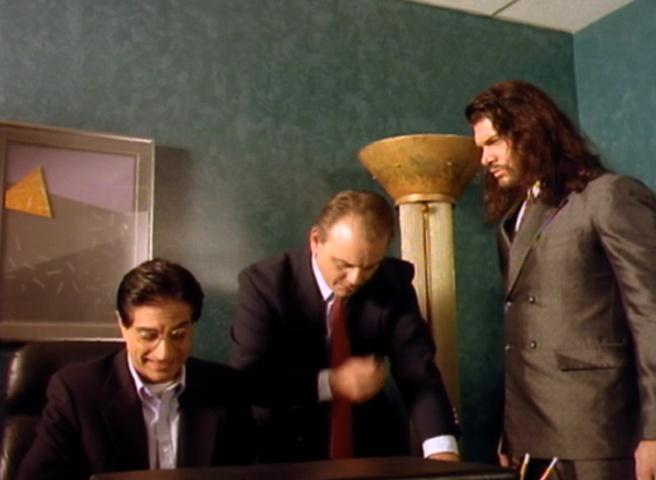 Caroline Ambrose, J.W. Perra, and Sam Zeller in Mystery Monsters (1997)