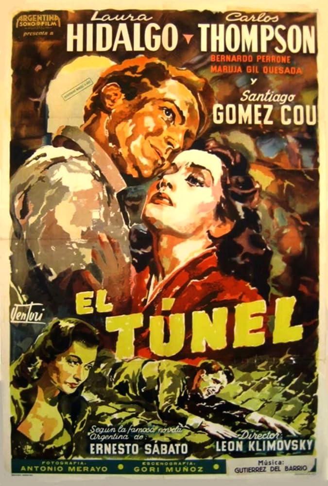 Laura Hidalgo and Carlos Thompson in El túnel (1952)