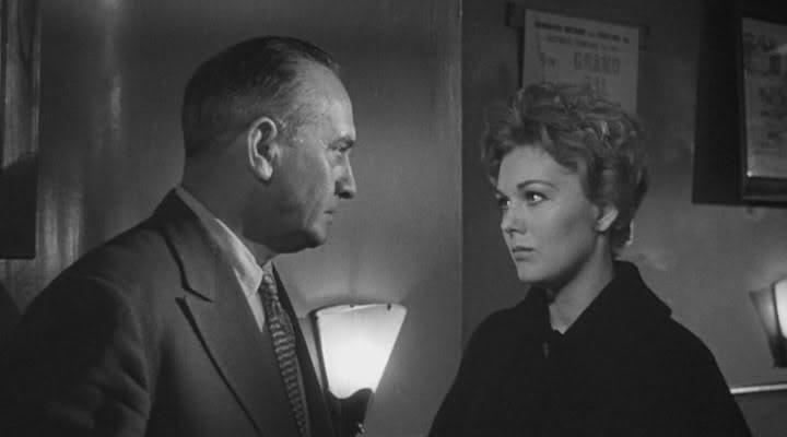 Kim Novak and Fredric March in Middle of the Night (1959)