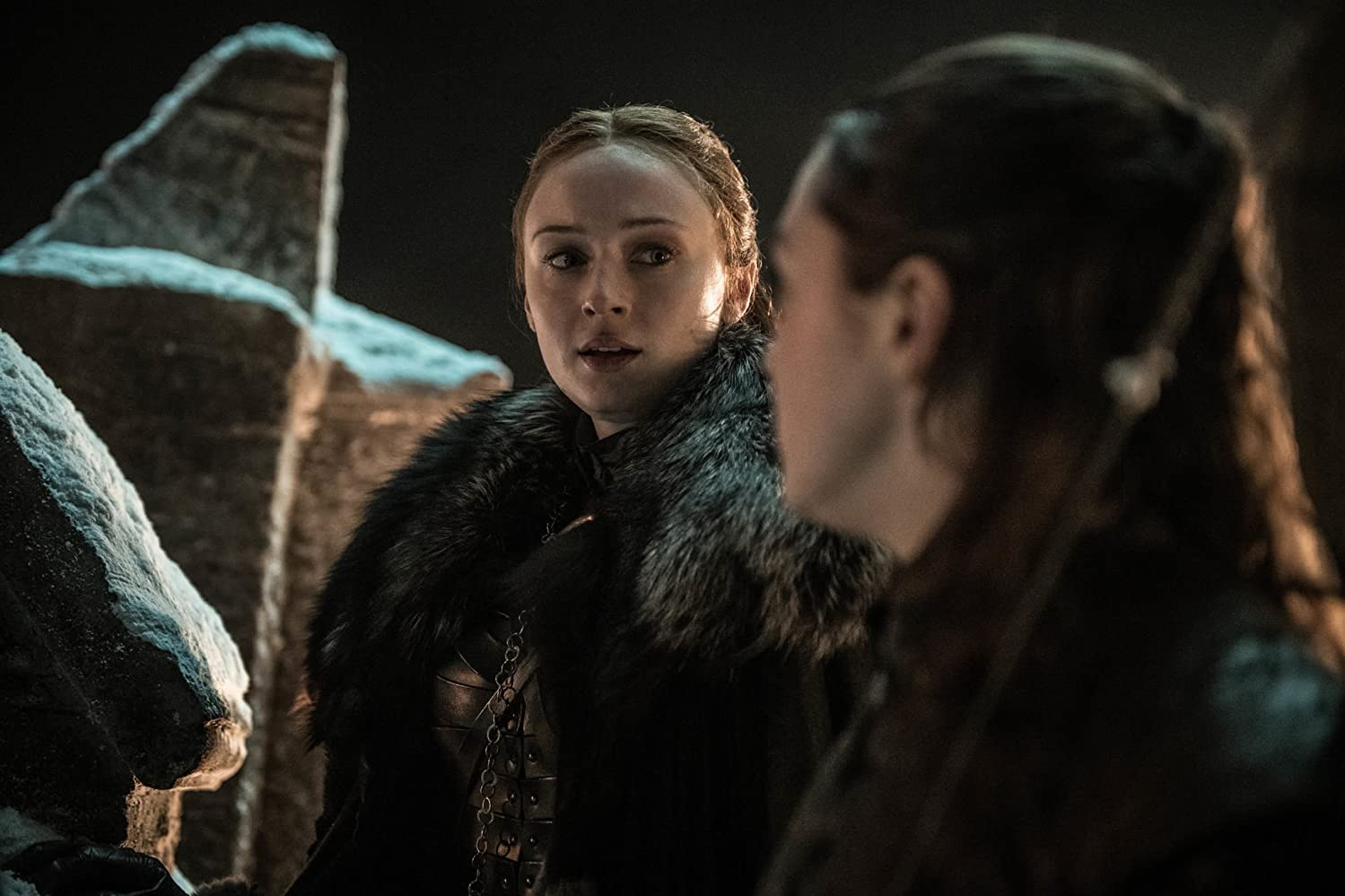 Maisie Williams and Sophie Turner in Game of Thrones (2011)