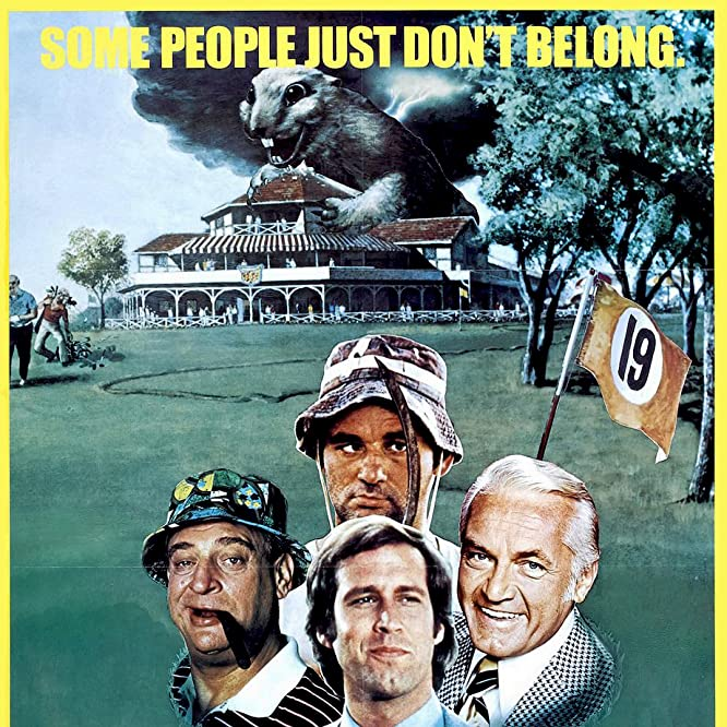 Bill Murray, Chevy Chase, Rodney Dangerfield, and Ted Knight in Caddyshack (1980)