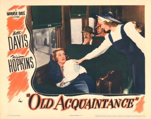 Bette Davis and Miriam Hopkins in Old Acquaintance (1943)