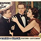 Stuart Erwin, Kay Francis, and Fredric March in Strangers in Love (1932)