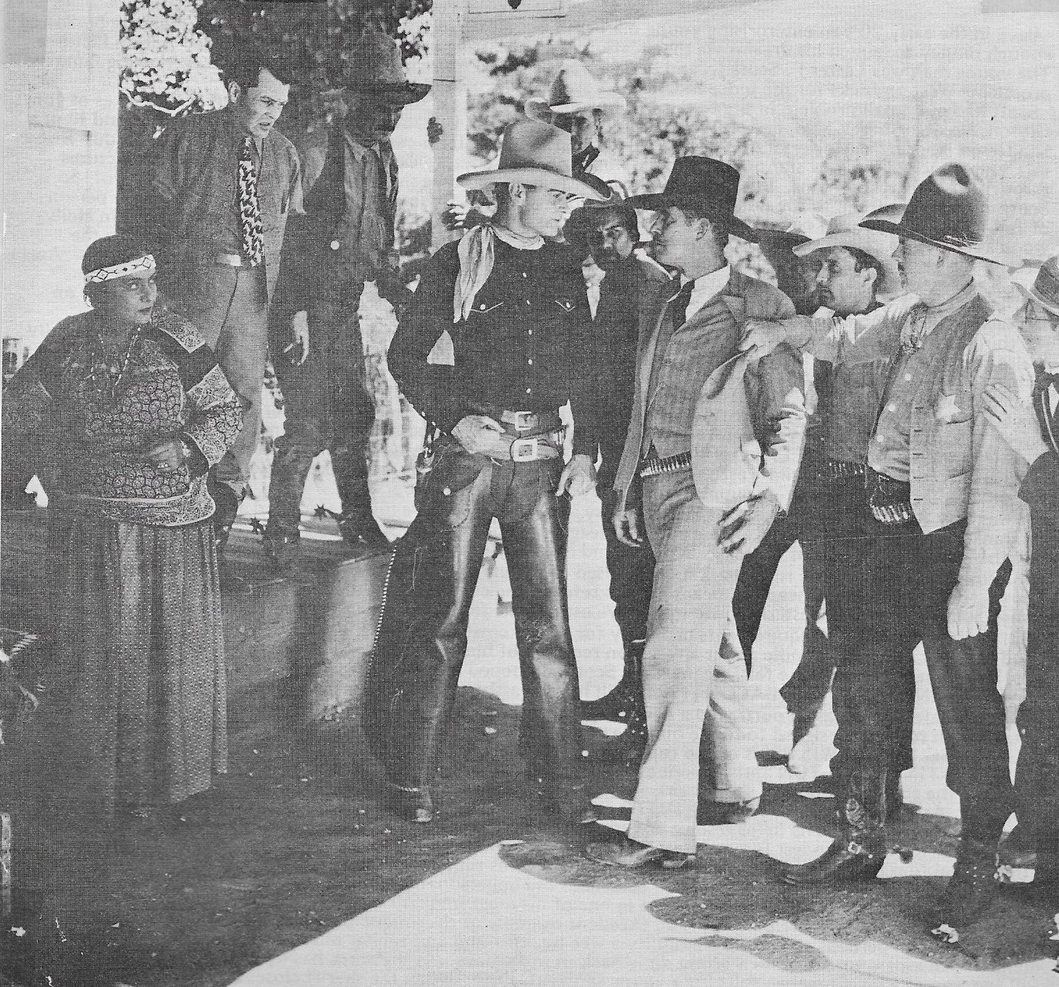 Ken Broeker, Bartlett A. Carre, Allen Holbrook, Tom Palky, Marin Sais, and Jay Wilsey in The Fighting Cowboy (1933)
