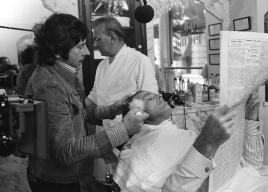 Jack Nicholson and Roman Polanski in Chinatown (1974)