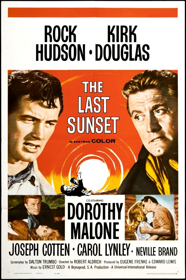 Kirk Douglas, Rock Hudson, Carol Lynley, and Dorothy Malone in The Last Sunset (1961)
