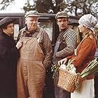 Dick Kaysø, Elin Reimer, Karl Stegger, and Chili Turèll in Affæren i Mølleby (1976)