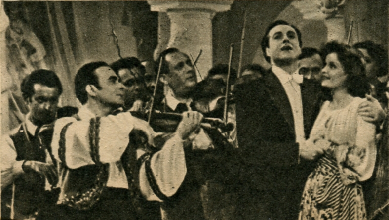 José Noguéro, Alfred Rode, and Madeleine Sologne in Le Danube bleu (1940)