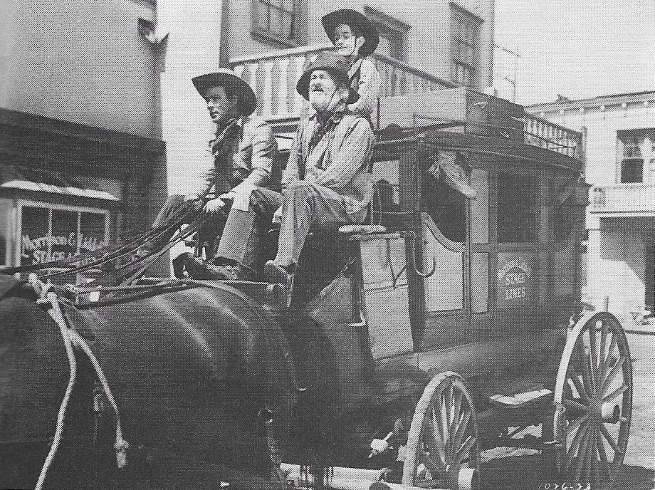 Roy Rogers, George 'Gabby' Hayes, and Billy Lee in Nevada City (1941)