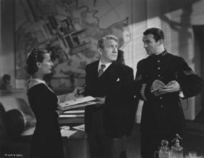 Spencer Tracy, Leueen MacGrath, and Clement McCallin in Edward, My Son (1949)