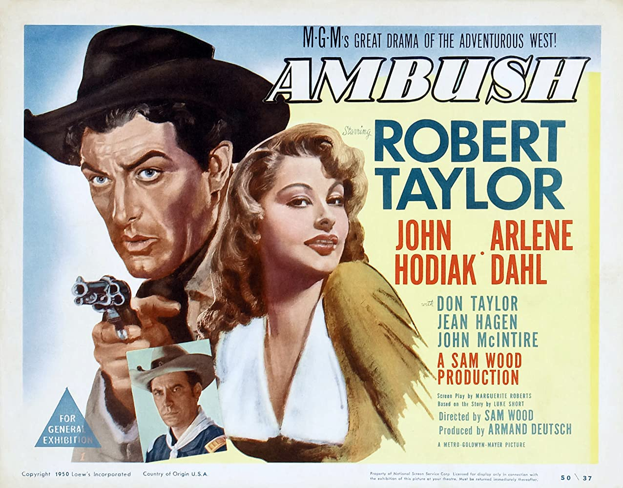 Robert Taylor, Arlene Dahl, and John Hodiak in Ambush (1950)