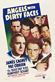 Humphrey Bogart, Pat O'Brien, Gabriel Dell, Leo Gorcey, Huntz Hall, Billy Halop, Bobby Jordan, Bernard Punsly, and The Dead End Kids in Angels with Dirty Faces (1938)