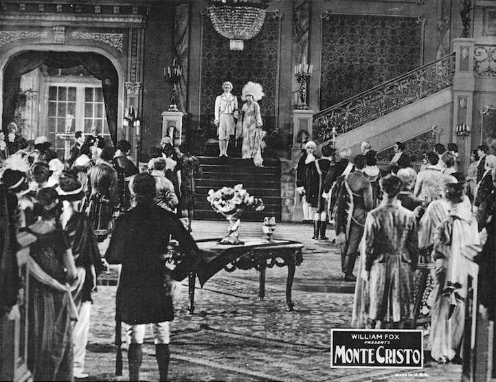 Renée Adorée, Spottiswoode Aitken, Ralph Cloninger, Maude George, John Gilbert, Robert McKim, William V. Mong, Albert Prisco, and Estelle Taylor in Monte Cristo (1922)