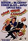 Edgar Bergen, Jim Jordan, Marian Jordan, and Charlie McCarthy in Look Who's Laughing (1941)