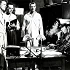 George Peppard, Ben Gazzara, Pat Hingle, and Arthur Storch in The Strange One (1957)