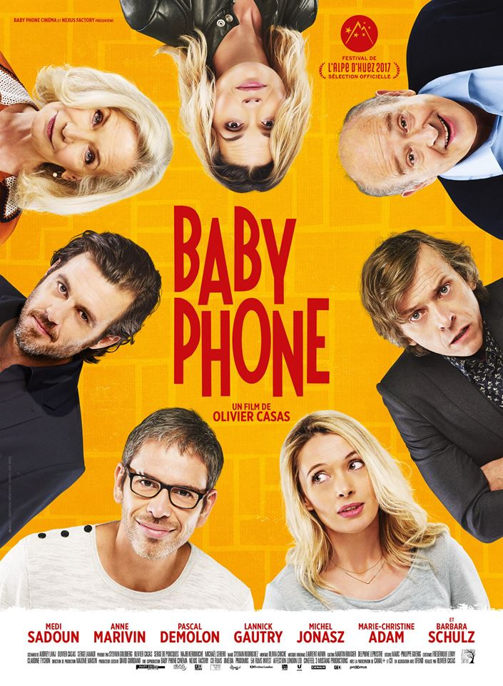 Marie-Christine Adam, Pascal Demolon, Michel Jonasz, Anne Marivin, Barbara Schulz, Lannick Gautry, Olivier Casas, and Medi Sadoun in Baby Phone (2017)