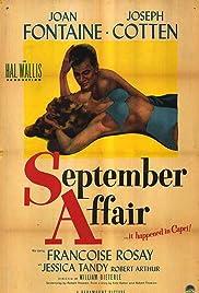 September Affair Poster