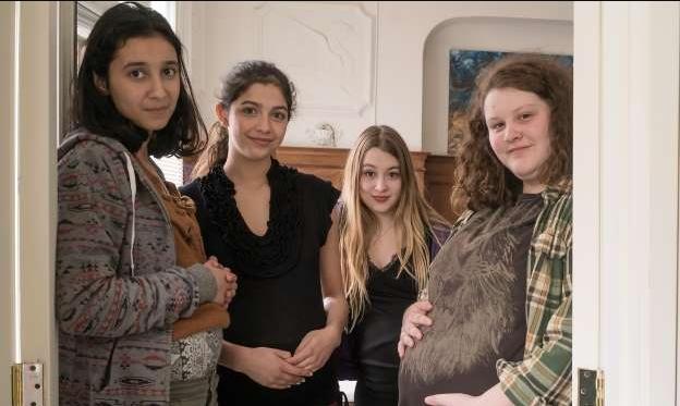 Alison Carrier, Evelyne Laferrière, Ambre Jabrane, and Tanya V. Lavoie in Toute la vie (2019)