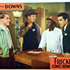 Irving Bacon, Johnny Downs, Mantan Moreland, and Marvin Stephens in Freckles Comes Home (1942)
