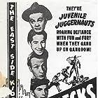 Gabriel Dell, Leo Gorcey, Huntz Hall, Bobby Jordan, Roger Pryor, Maxie Rosenbloom, and Gale Storm in Smart Alecks (1942)