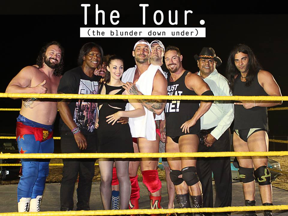 Rob Conway, Nick Dinsmore, Gene Snisky, Carlos Colón Jr., and Chris Mordetzky in The Tour: Blunder Down Under (2015)