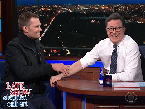 Stephen Colbert and Tom Brady in The Late Show with Stephen Colbert (2015)