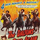 Noah Beery Jr., Lon Chaney Jr., Alan Curtis, Martha O'Driscoll, and Kent Taylor in The Daltons Ride Again (1945)