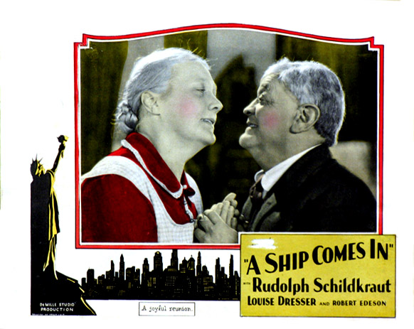 Louise Dresser and Rudolph Schildkraut in A Ship Comes In (1928)