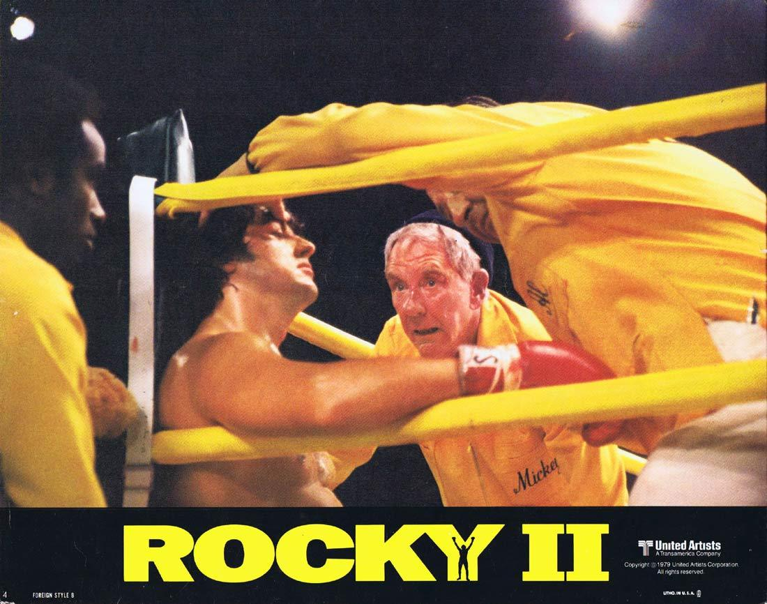 Sylvester Stallone and Burgess Meredith in Rocky II (1979)