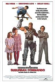 Christopher Lloyd, Shelley Duvall, Hulk Hogan, Michael Faustino, and Laura Mooney in Suburban Commando (1991)