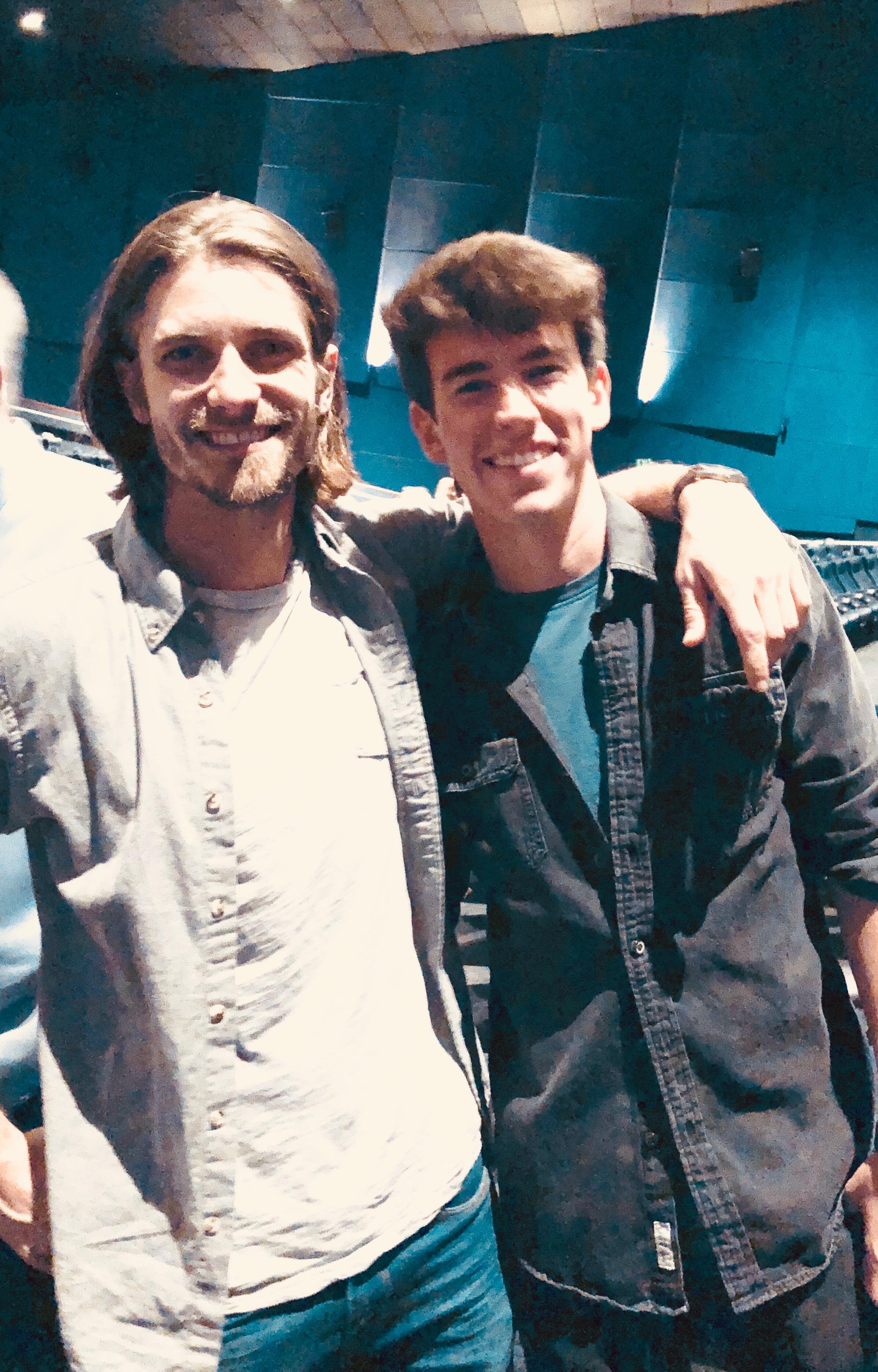 Sam Hunt and Derek Brandon at screening of Unbroken: Path to Redemption