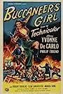 Yvonne De Carlo and Philip Friend in Buccaneer's Girl (1950)