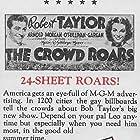 Maureen O'Sullivan and Robert Taylor in The Crowd Roars (1938)