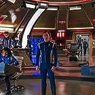 Jason Isaacs, Doug Jones, Sonequa Martin-Green, Emily Coutts, Avaah Blackwell, and Oyin Oladejo in Star Trek: Discovery (2017)