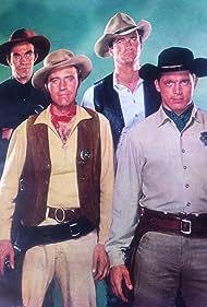 Jack Elam, Chad Everett, Michael Greene, and Larry Ward in The Dakotas (1962)