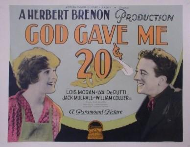 Image result for God gave me twenty cents 1926