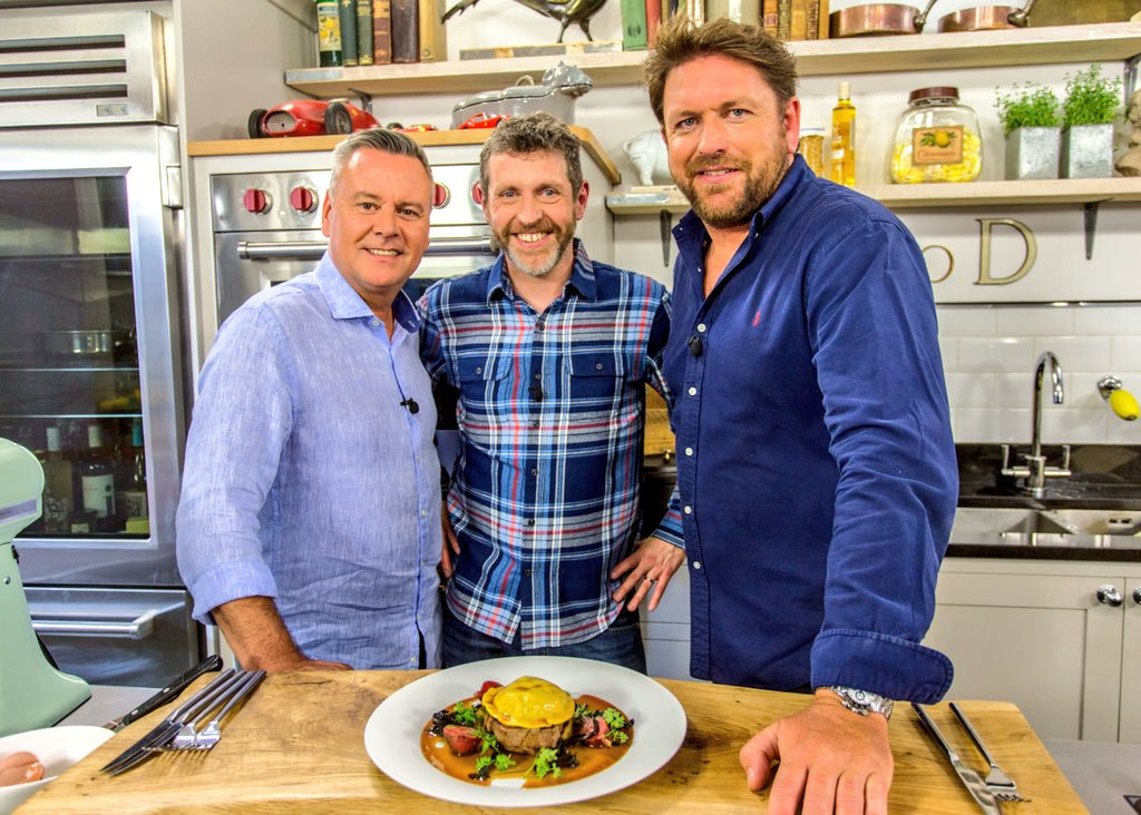 Dave Gorman, James Martin, and Tony Tobin in Saturday Morning with James Martin (2017)