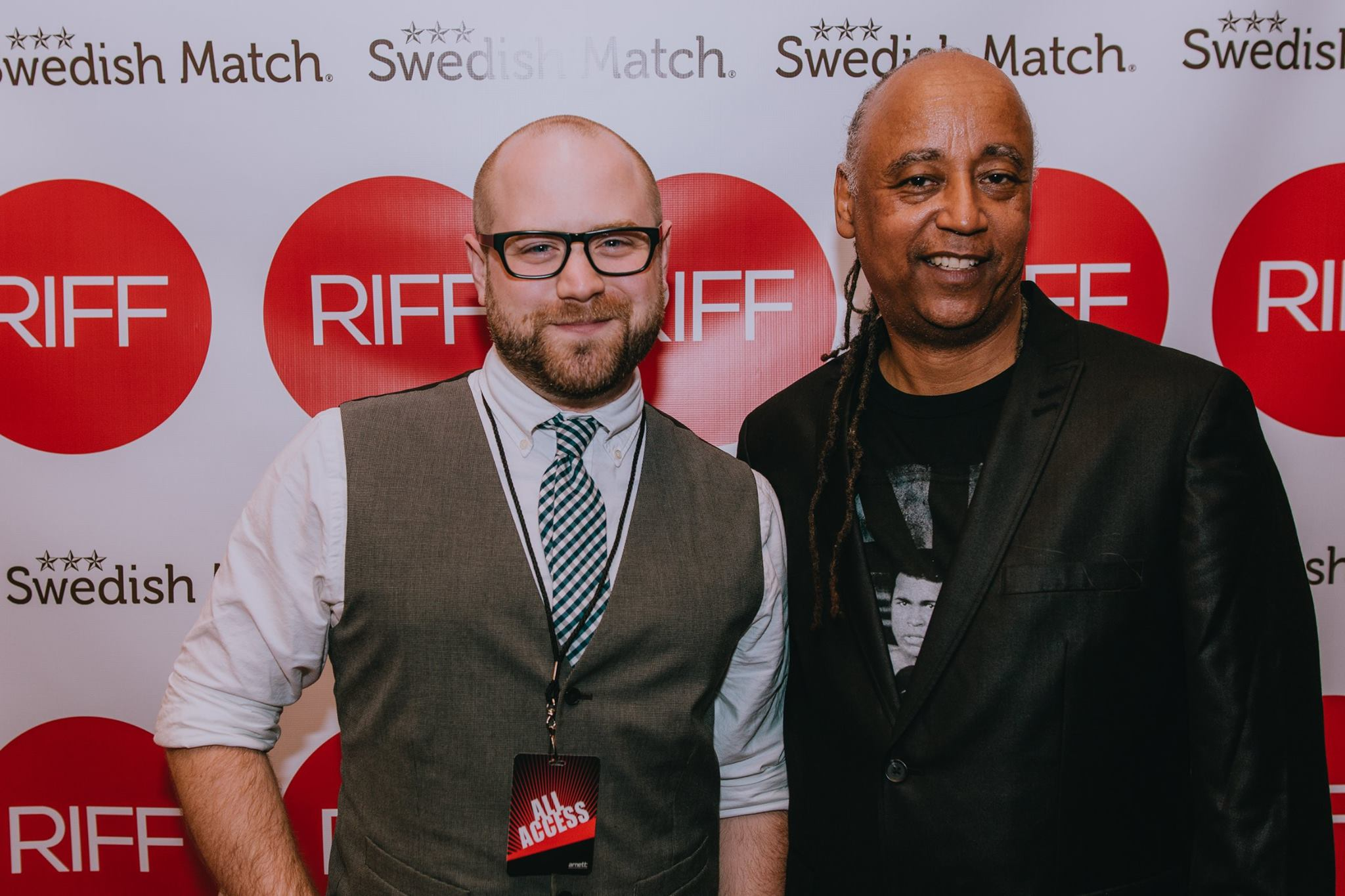 Composer Andrew Scott Bell with director Jesse Vaughan at the Richmond International Film Festival screening of The Last Punch.