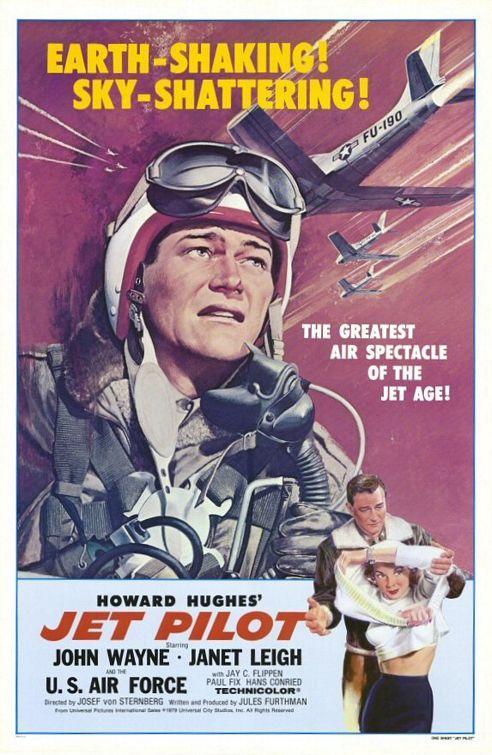 John Wayne and Janet Leigh in Jet Pilot (1957)