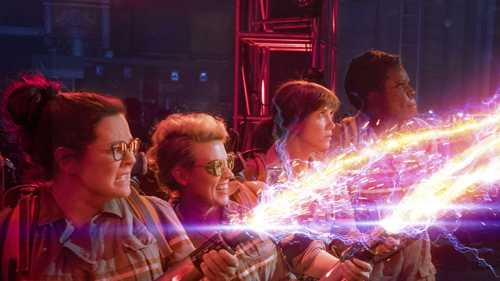 Leslie Jones, Melissa McCarthy, Kate McKinnon, and Kristen Wiig in Ghostbusters (2016)