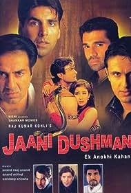 Sunny Deol, Manisha Koirala, Akshay Kumar, Sonu Nigam, Aditya Pancholi, Suniel Shetty, Arman Kohli, and Sharad S. Kapoor in Jaani Dushman: Ek Anokhi Kahani (2002)